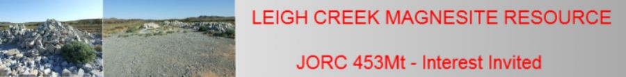 Leigh Creek Cryptocrystalline Magnesite Resource