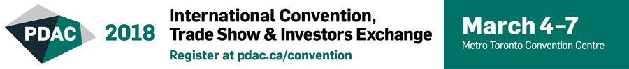 PDAC2018 Trade Show and Convention