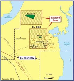 Location of Windabout and MG14 deposits