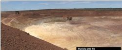 Photo 1: Mining at the Matilda M10 pit