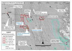 Figure 2: The Cobar Gold Project is located in a regionally productive mining district with several nearby long-life operations and significant new discoveries including Helix's Collerina Copper Project.