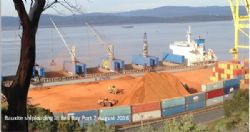 Bell Bay port can handle ships up to 65,000 tonnes.