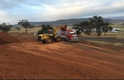 Loading fertiliser-grade bauxite from the Final Product Stockpile at Bald Hill mine in mid January 2017