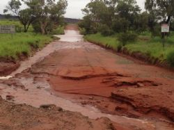 Roads across all fields were affected by wash-outs and flooding, resulting in road closures.