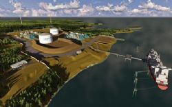Schematic Site Layouts for the proposed 8 mtpa or greater Magnolia LNG Project