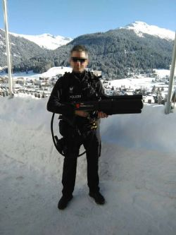 Swiss Police deploys DroneGun at the 2017 World Economic Forum in Davos