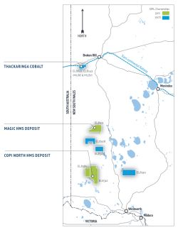 Figure 1. The Company's project portfolio with a significant exploration footprint in the NSW Murray Basin.