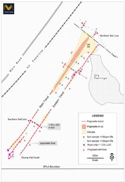 Reung Kiet Lithium Prospect Sampling and Planned Drilling