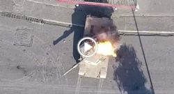 ISIS footage - ISIS grenade deployed by a drone destroys an M1 Abrams tank