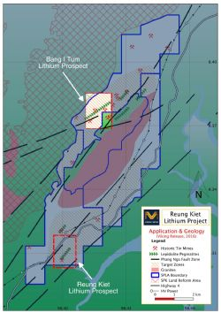 Figure 1: Reung Kiet Lithium Project Geology