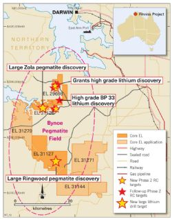Finniss Lithium Project near Darwin in the NT.