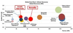 Arcadia – 5th largest hard rock Lithium Deposit Globally