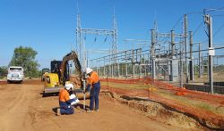 Figure 1: Construction works at the Kidston Substation