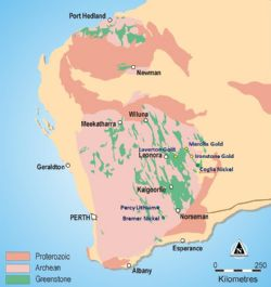 Tenement Map - Australia Regional geology and location plan of White Cliff Minerals Limited exploration projects in the Yilgarn Craton, Western Australia