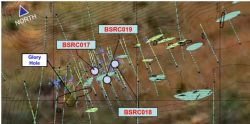 Plan view of the recently completed Black Snake Drilling (BSRC017-BSRC019)