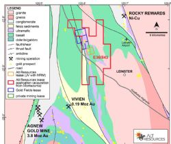 Mt Roberts Gold Project, regional location showing E36/843 and proximity to regional mining centres.