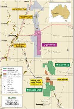 Location of Meekatharra Projects