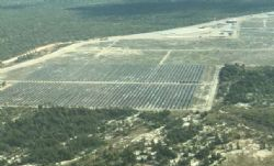 Aerial view of the 50MW Kidston Solar Project