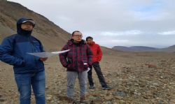 Senior NFC engineers assessing the proposed tailings site