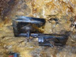 Completed rockbolts no installed throughout the mine