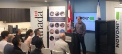 NOVONIX Battery Testing Services Inc CEO, Dr Chris Burns speaking at the funding announcement.