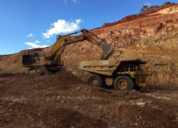 Ore mining continues in the southern section of the Teal Gold Mine