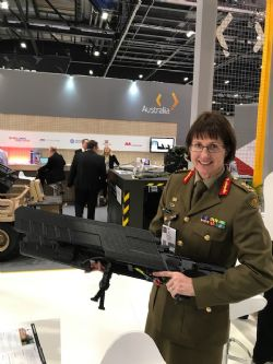 Major General Kathryn Toohey with DroneGun MKII