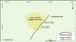 Area where gold nuggets were discovered, E45/4722, DOM's Hill Gold Project