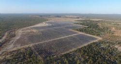 Aerial view of a section of the 50MW Kidston Solar Project.