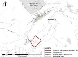 Image showing the proposed location of the new Whitesand First Nation industrial park at Armstrong