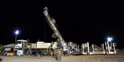 Exploration rig on site at the LCEP