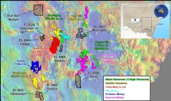 Location of Emmerson Resources NSW Projects