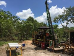 Diamond Drill Rig and Core at BP33, Finniss Lithium Project near Darwin in the NT.