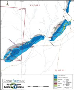 Big Hill deposit drilling plan illustrating increased data density along some 1.2km strike.