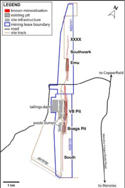 Layout of the Bottle Creek site