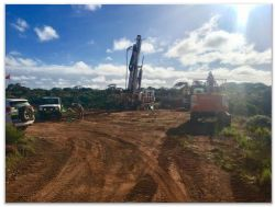 Strike Drilling rig at Emu ore body