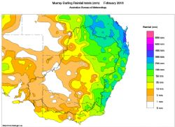 Murray-Darling Rainfall totals (mm) February 2018