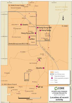 Recent exploration and drilling at pegmatite prospects