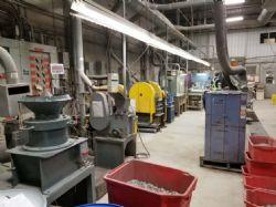 Sample preparation (crushing) area at SGS Canada Inc.