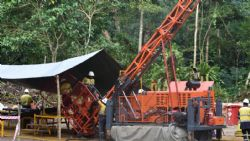 Diamond drill rig set up underway at Misima Gold Project