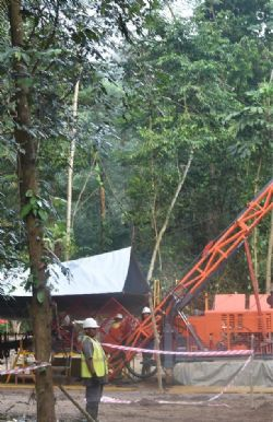 Site works at Misima Gold Project, preparation for phase 1 diamond drilling