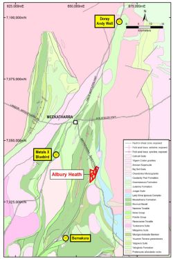 Location, Albury Heath Project, WA