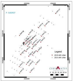 Drilling Location, 2018 drilling, Albury Heath Project, WA. Grid is GDA94, Zone 50.