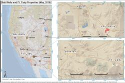 Location of the Fort Cady Project, California and the Salt Wells Projects, Nevada USA.