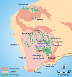 Australia Regional geology and location plan of White Cliff Minerals Limited exploration projects