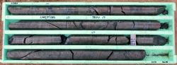 Diamond drill core from Hole CMIPT084