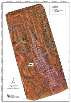Aerial imagery of the Emu deposit site from the recent drone survey by Minecomp at Bottle Creek.