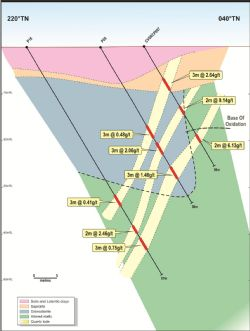 Interpreted geological section P16-CVSRCP007.
