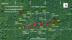 Selective grab samples location at Viau Dallaire