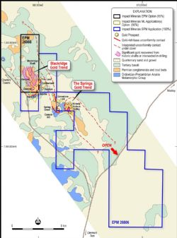 Location and geology of the Blackridge Project.